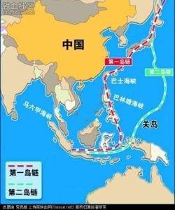 中国的岛链封锁
