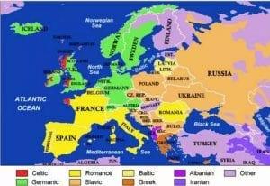 欧洲的语系非常分散jpg